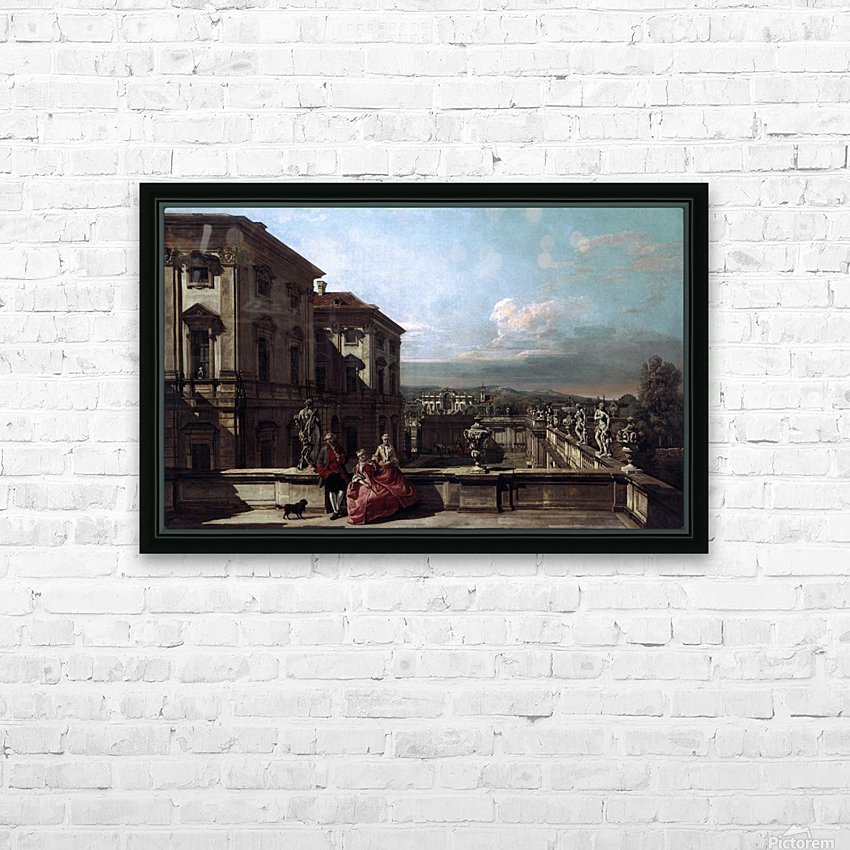 Liechtenstein Garden Palace in Vienna Seen from the East HD Sublimation Metal print with Decorating Float Frame (BOX)