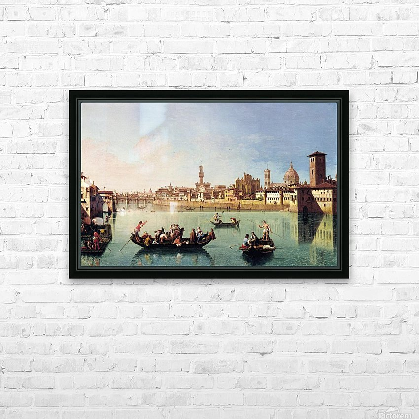 View af the Arno in Florence HD Sublimation Metal print with Decorating Float Frame (BOX)