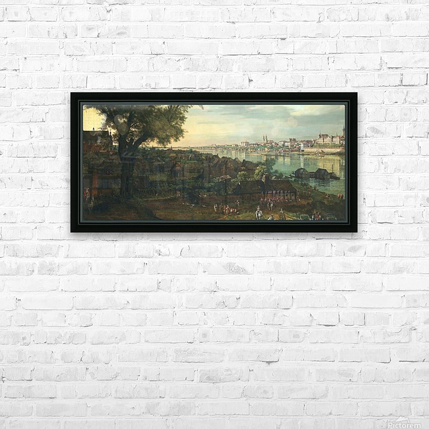 View of Warsaw from Prague HD Sublimation Metal print with Decorating Float Frame (BOX)