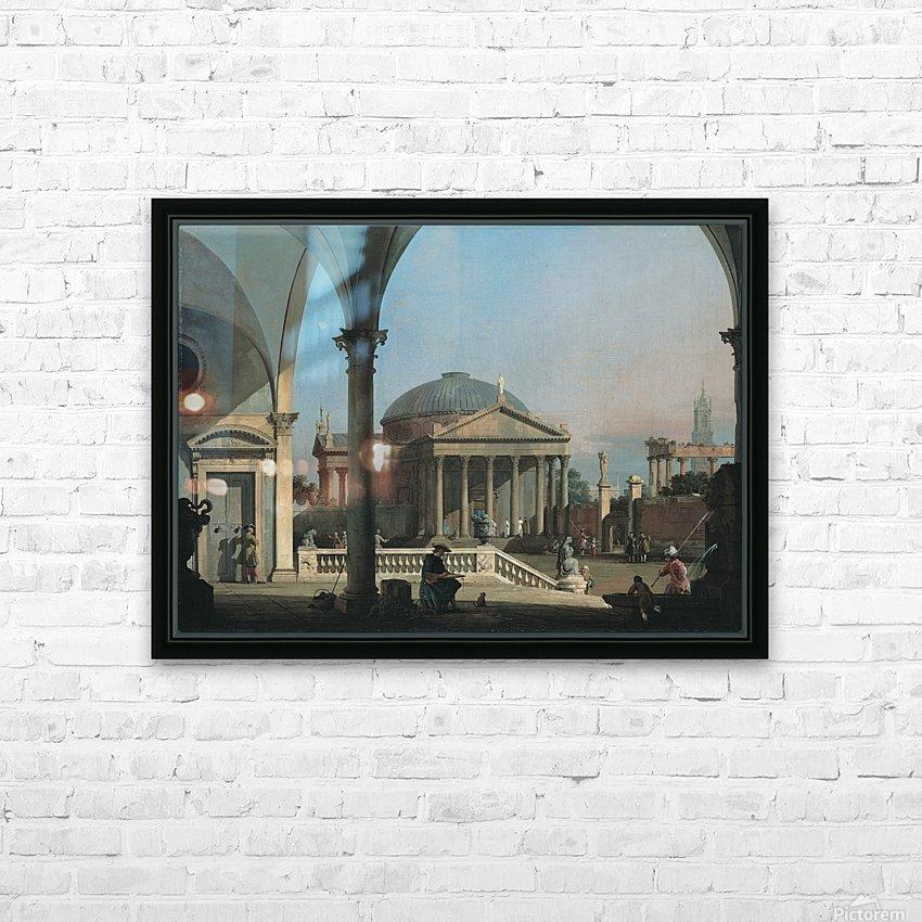 Caprice avec des ruines classiques HD Sublimation Metal print with Decorating Float Frame (BOX)