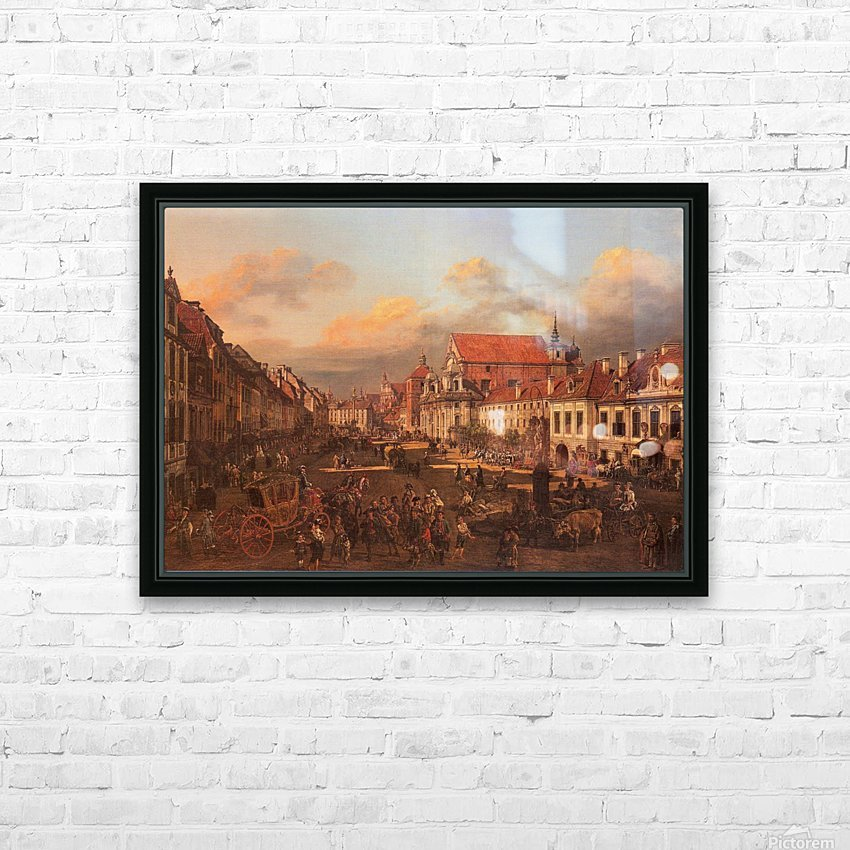 Die Altstadt wurde nach dem Krieg nach alten HD Sublimation Metal print with Decorating Float Frame (BOX)