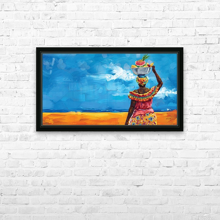 PALENQUERA HD Sublimation Metal print with Decorating Float Frame (BOX)