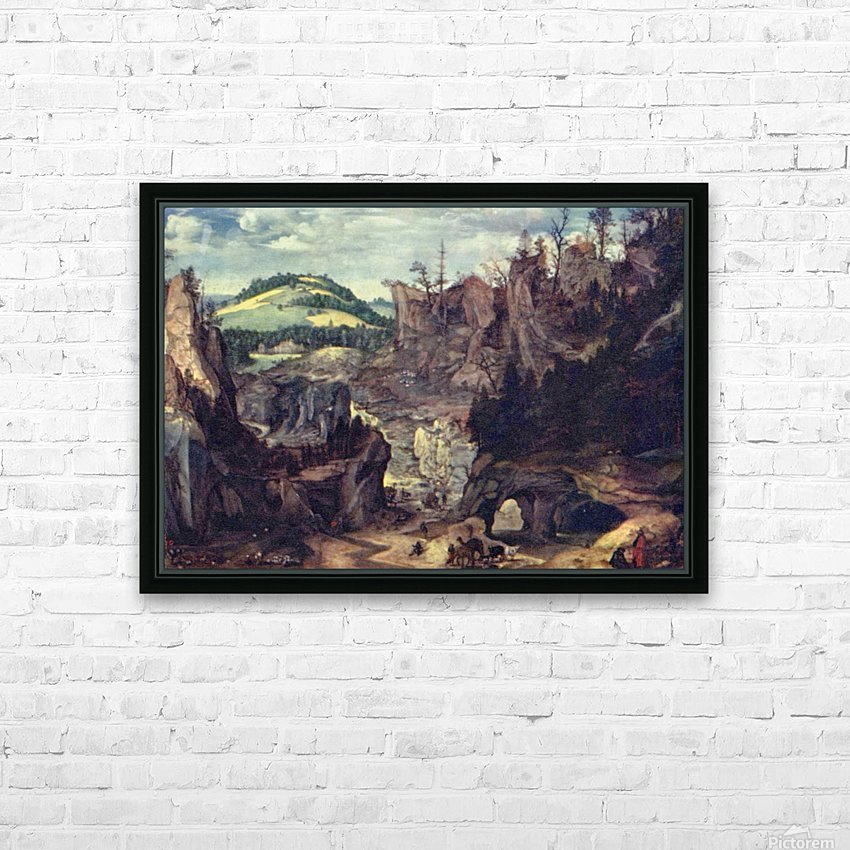 The path to a hill HD Sublimation Metal print with Decorating Float Frame (BOX)
