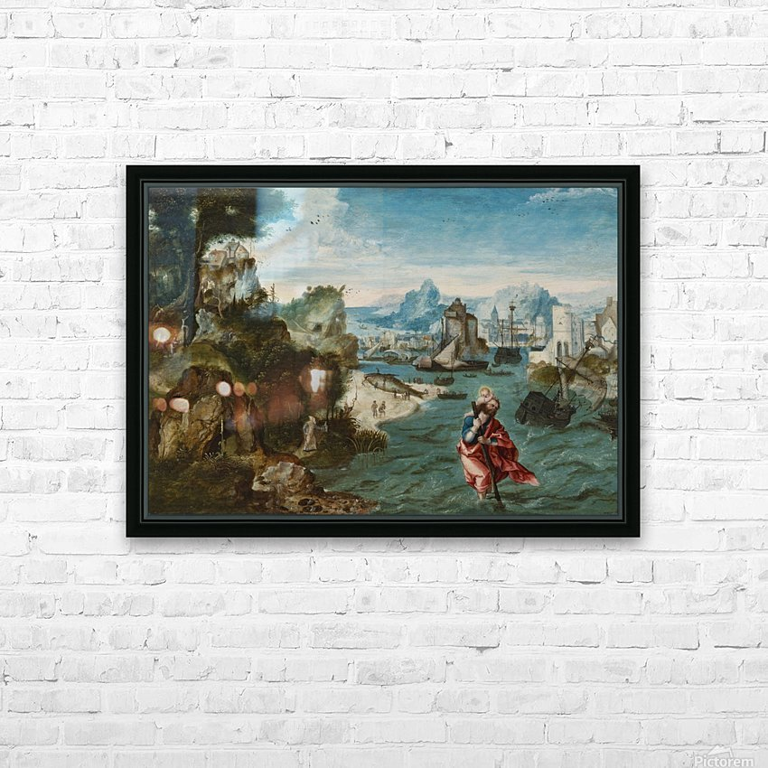 A man with a child in the river HD Sublimation Metal print with Decorating Float Frame (BOX)