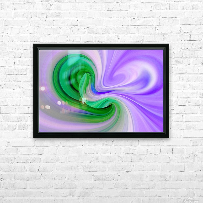DISTORSION 2 HD Sublimation Metal print with Decorating Float Frame (BOX)
