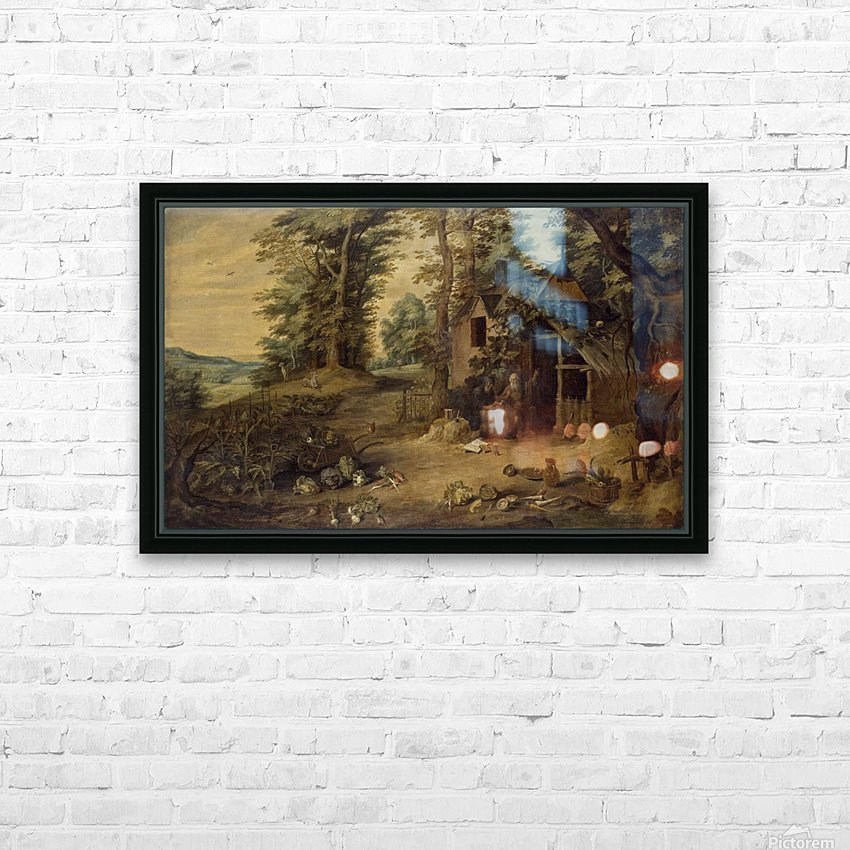 Landscape with Homestead HD Sublimation Metal print with Decorating Float Frame (BOX)