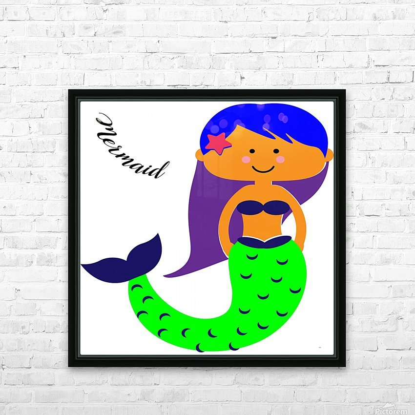 Mermaid HD Sublimation Metal print with Decorating Float Frame (BOX)
