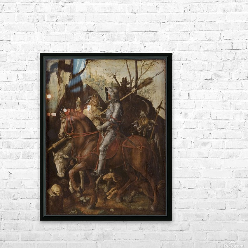A Knight, Death, and the Devil HD Sublimation Metal print with Decorating Float Frame (BOX)