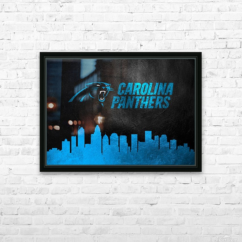 Carolina Panthers Skyline HD Sublimation Metal print with Decorating Float Frame (BOX)
