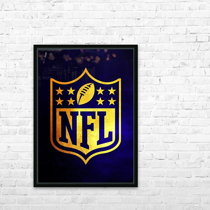 Nfl logo Blue Gold Skyline HD Sublimation Metal print with Decorating Float Frame (BOX)
