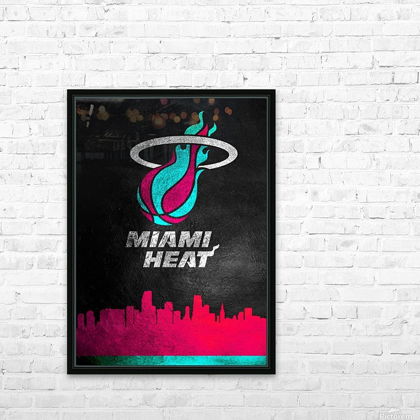 Miami Heat Vice 2 HD Sublimation Metal print with Decorating Float Frame (BOX)