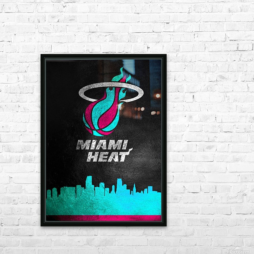 Miami Heat Vice HD Sublimation Metal print with Decorating Float Frame (BOX)