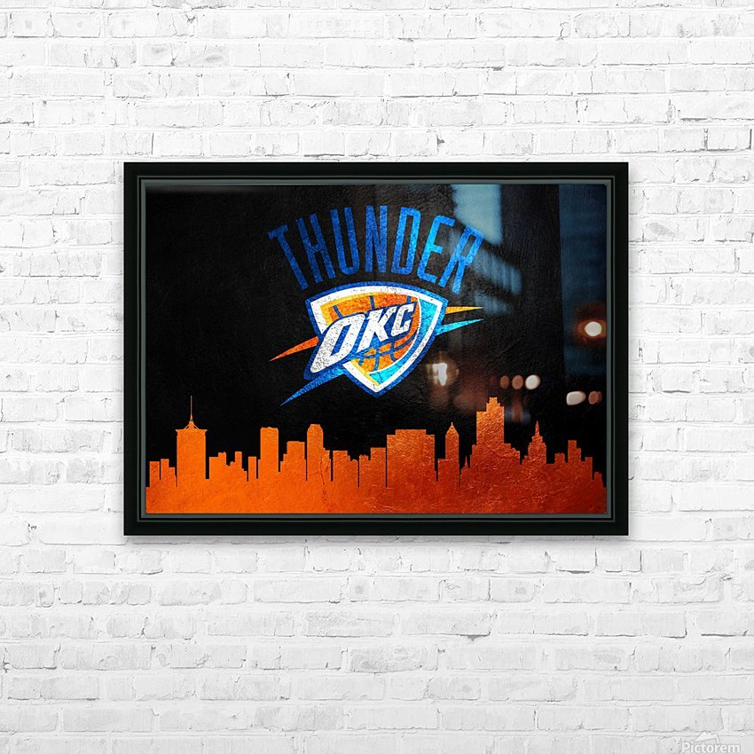 Oklahoma City Thunder HD Sublimation Metal print with Decorating Float Frame (BOX)