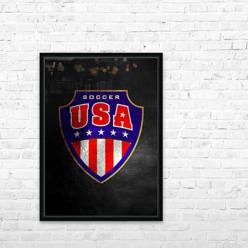 USA HD Sublimation Metal print with Decorating Float Frame (BOX)
