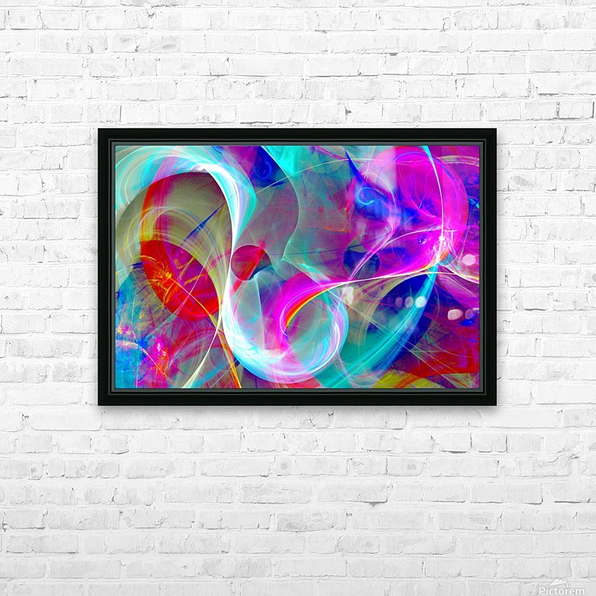 SWIRLS 1B HD Sublimation Metal print with Decorating Float Frame (BOX)