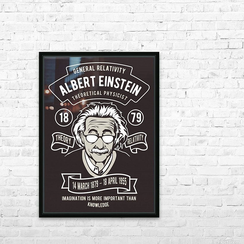 Albert einstein poster HD Sublimation Metal print with Decorating Float Frame (BOX)