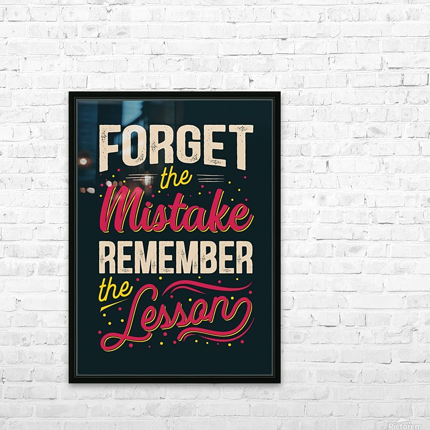 Best inspirational wisdom quotes life forget mistake remember lesson poster HD Sublimation Metal print with Decorating Float Frame (BOX)