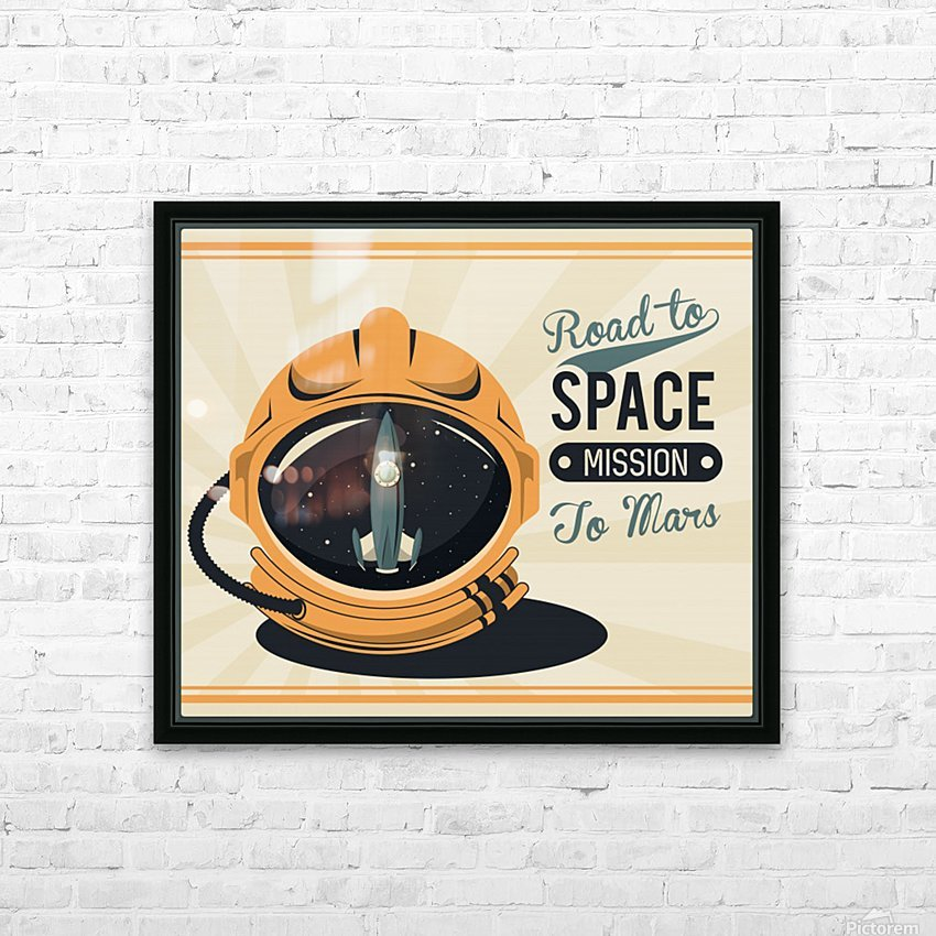 Life space vintage poster with set scenes HD Sublimation Metal print with Decorating Float Frame (BOX)