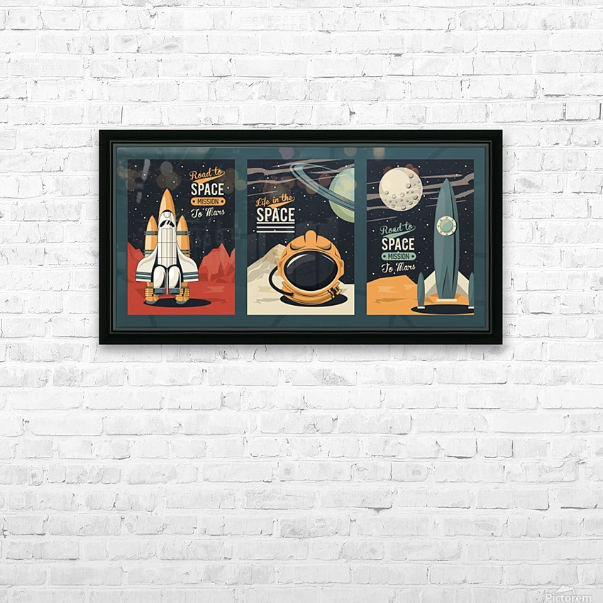 Life space poster with set scenes HD Sublimation Metal print with Decorating Float Frame (BOX)