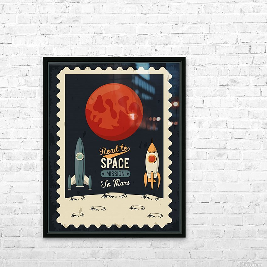 Life space poster with mars rocket rockets HD Sublimation Metal print with Decorating Float Frame (BOX)