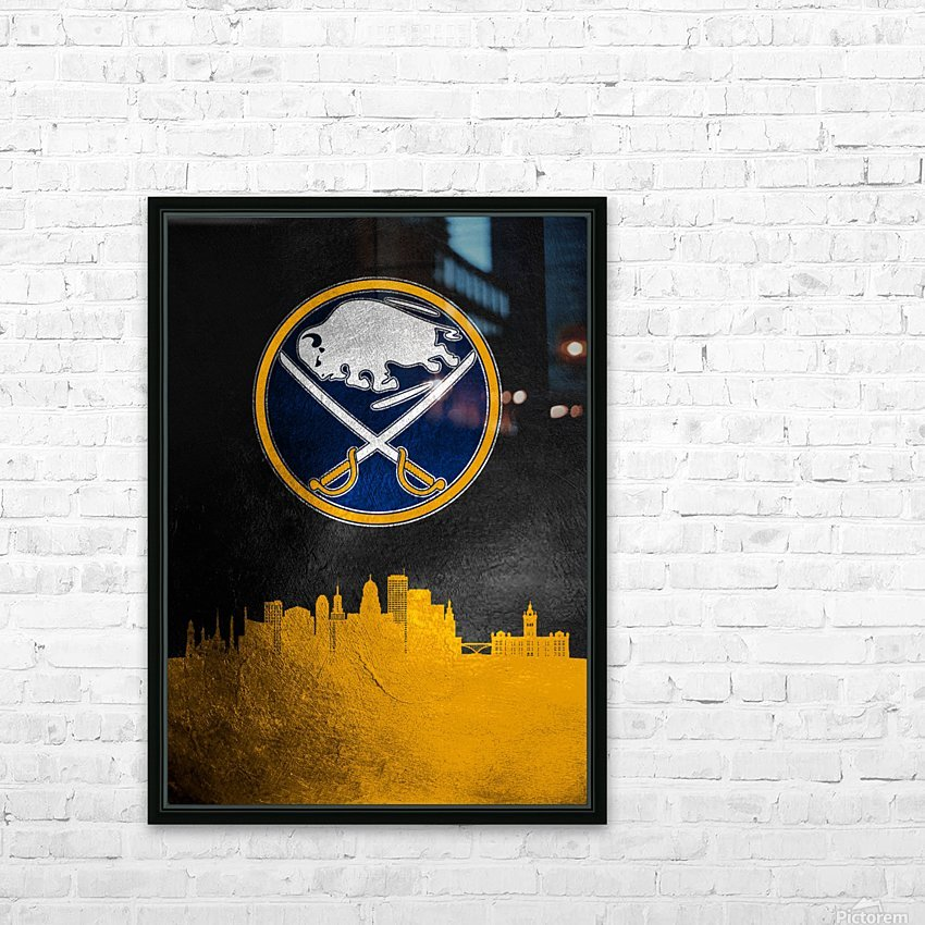 Buffalo Sabres 2 HD Sublimation Metal print with Decorating Float Frame (BOX)