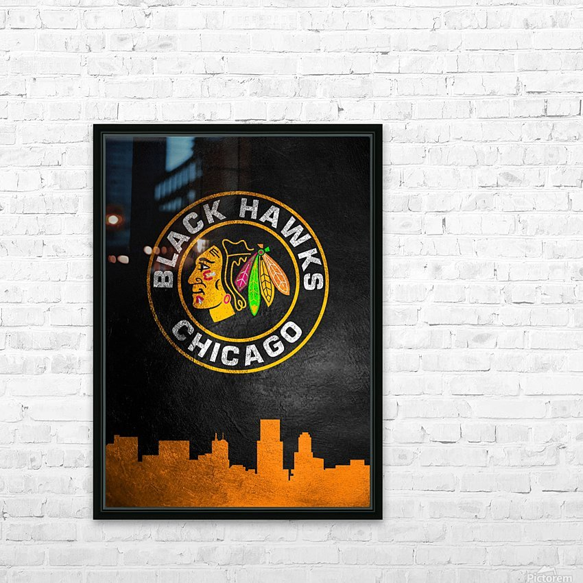 Chicago Blackhawks HD Sublimation Metal print with Decorating Float Frame (BOX)