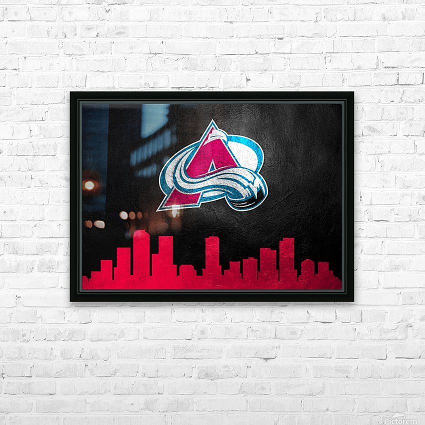 Colorado Avalanche HD Sublimation Metal print with Decorating Float Frame (BOX)