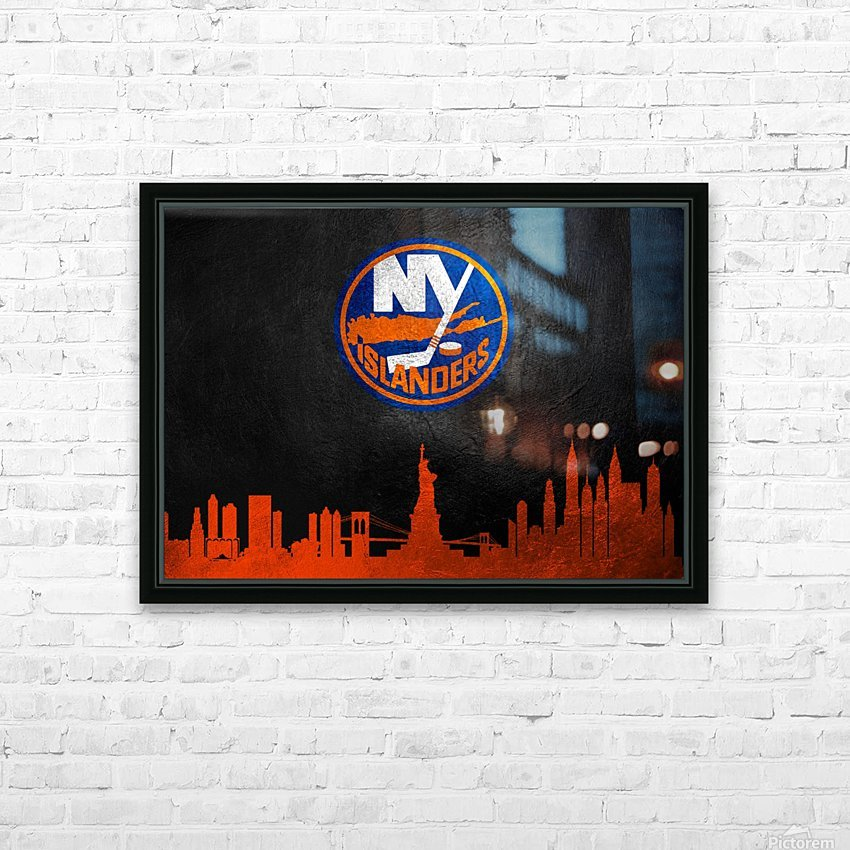 New Jersey Islanders HD Sublimation Metal print with Decorating Float Frame (BOX)