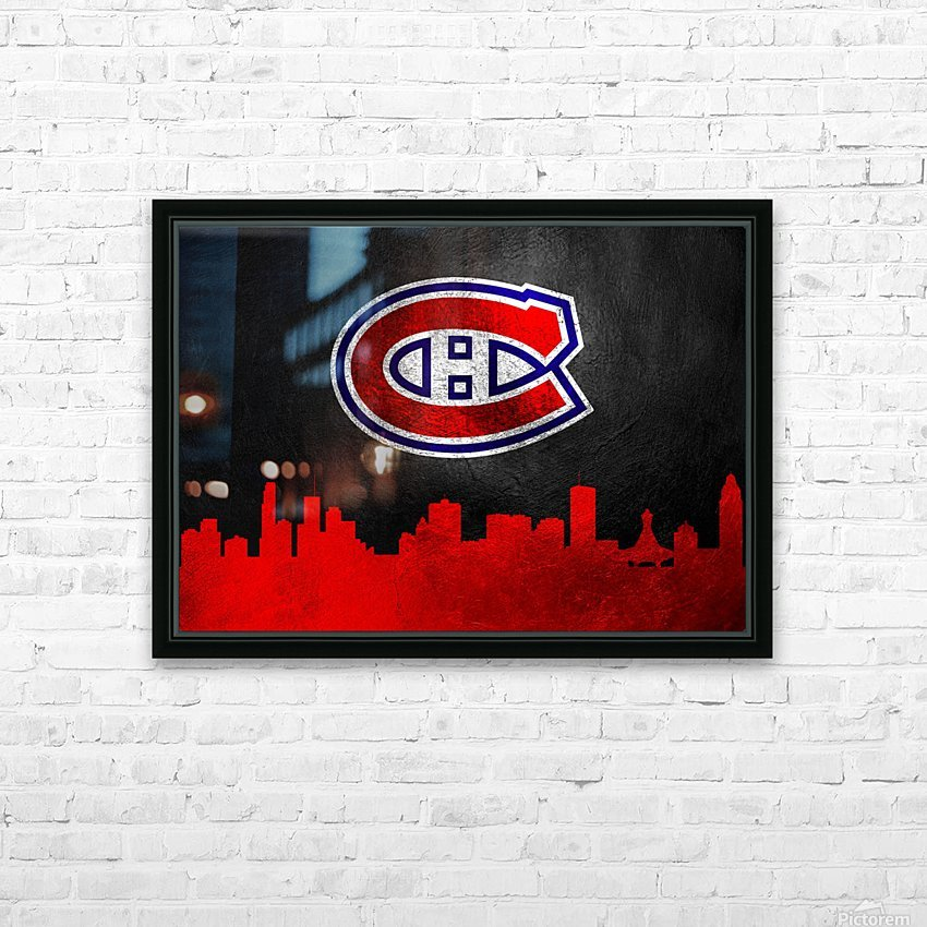 Montreal Canadiens HD Sublimation Metal print with Decorating Float Frame (BOX)