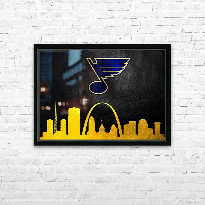 St Louis Blues HD Sublimation Metal print with Decorating Float Frame (BOX)