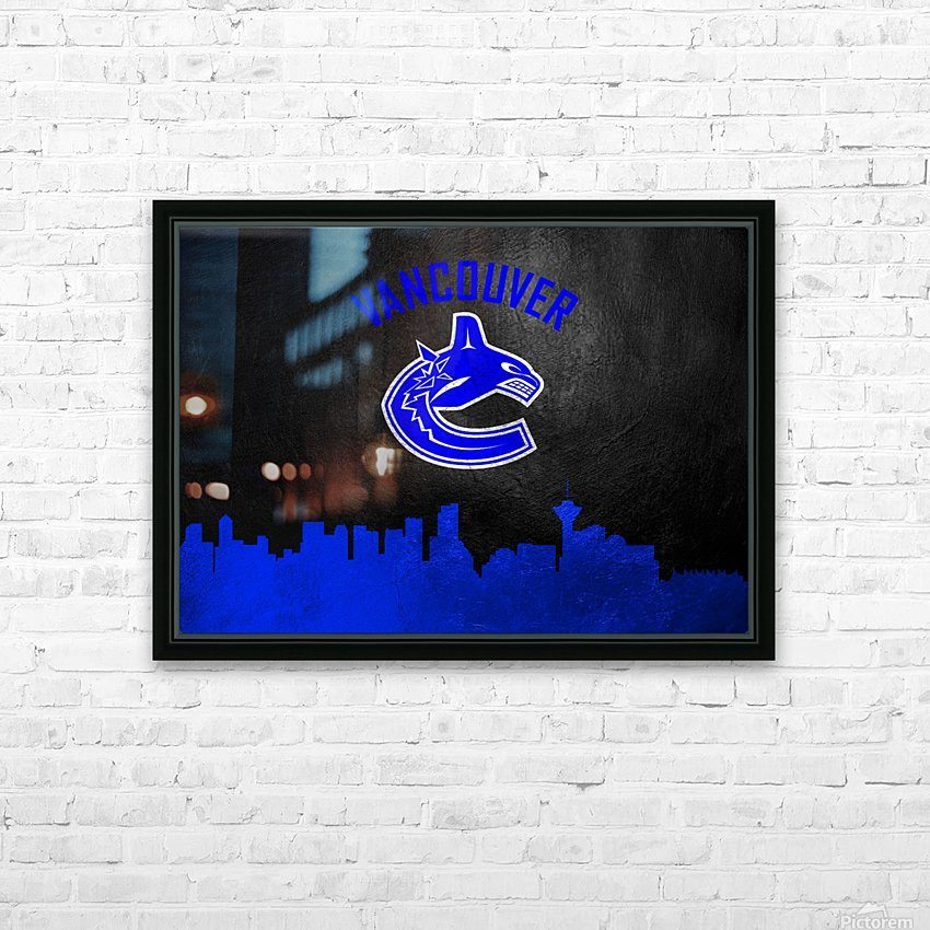 Vancouver Canucks HD Sublimation Metal print with Decorating Float Frame (BOX)
