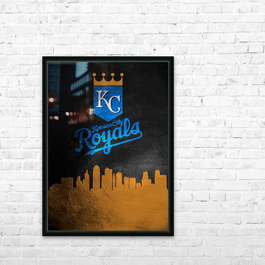 Kansas City Royals HD Sublimation Metal print with Decorating Float Frame (BOX)