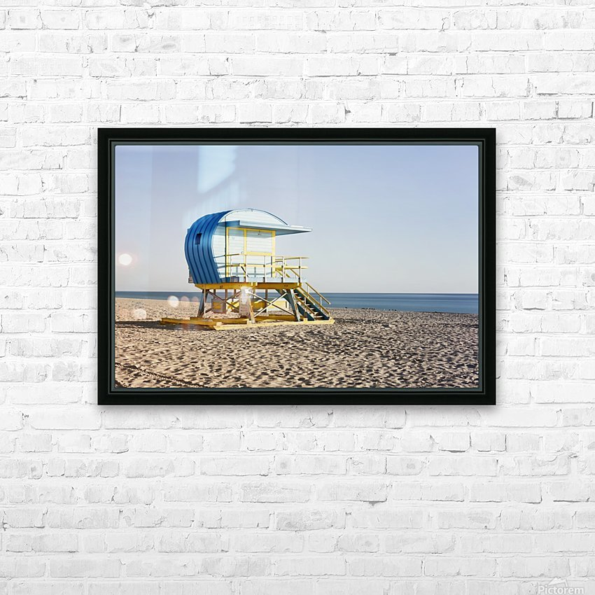 Miami Beach 105 HD Sublimation Metal print with Decorating Float Frame (BOX)