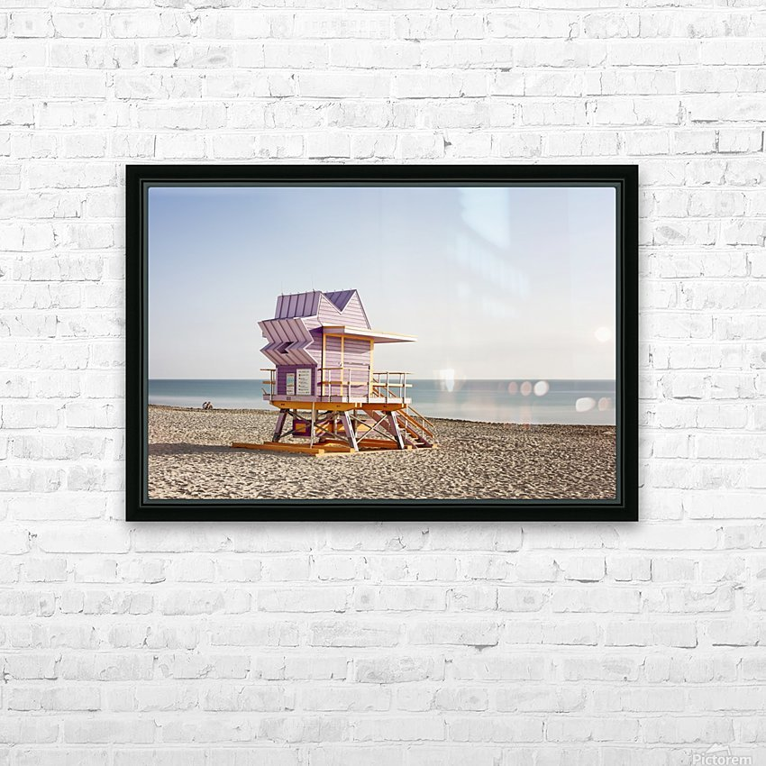 Miami Beach 054 HD Sublimation Metal print with Decorating Float Frame (BOX)