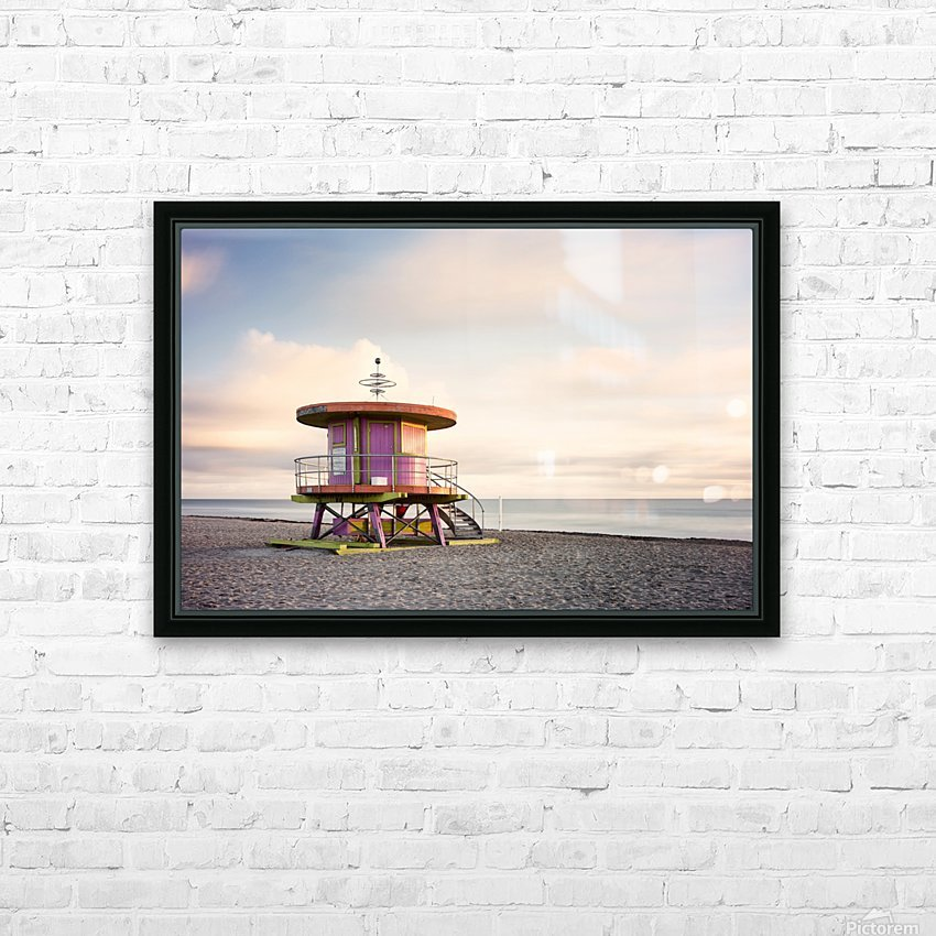 Miami Beach 028 HD Sublimation Metal print with Decorating Float Frame (BOX)