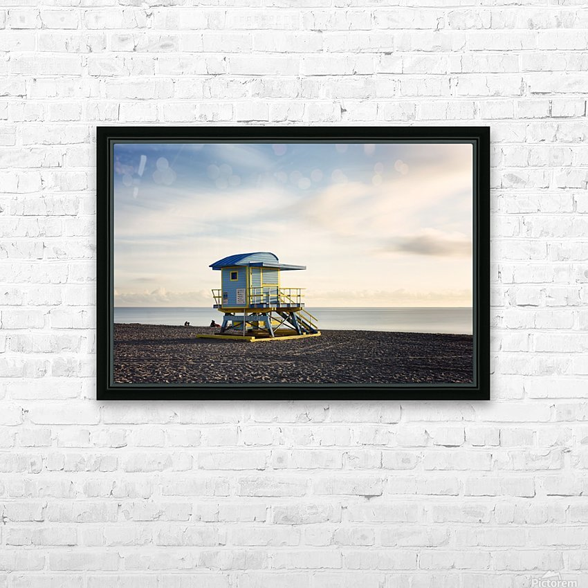 Miami Beach 030 HD Sublimation Metal print with Decorating Float Frame (BOX)