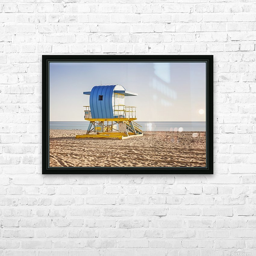Miami Beach 117 HD Sublimation Metal print with Decorating Float Frame (BOX)