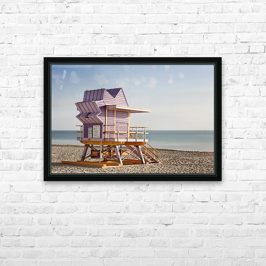 Miami Beach 056 HD Sublimation Metal print with Decorating Float Frame (BOX)