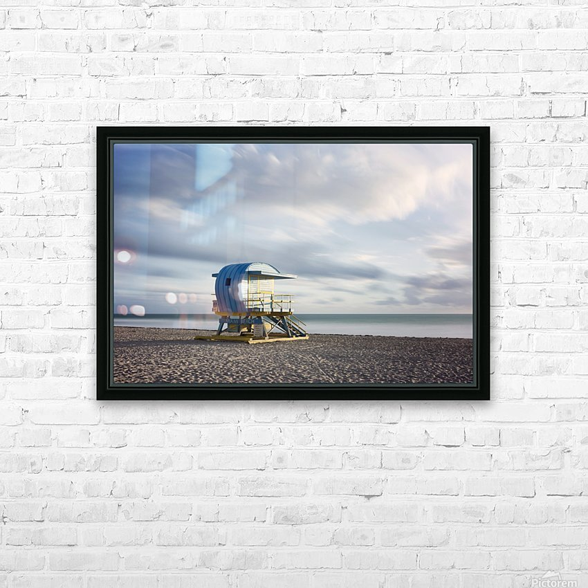 Miami Beach 042 HD Sublimation Metal print with Decorating Float Frame (BOX)