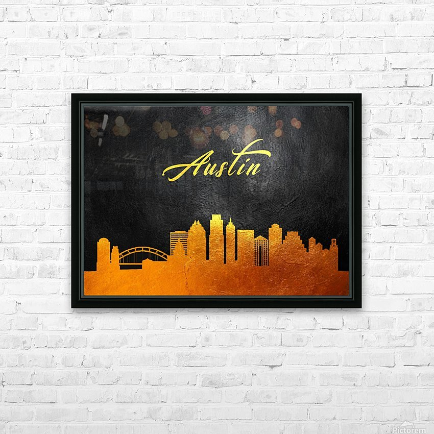 Austin Texas Skyline Wall Art HD Sublimation Metal print with Decorating Float Frame (BOX)