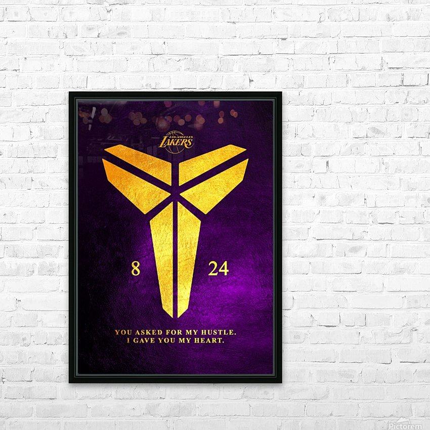 Kobe Bryant Tribute HD Sublimation Metal print with Decorating Float Frame (BOX)