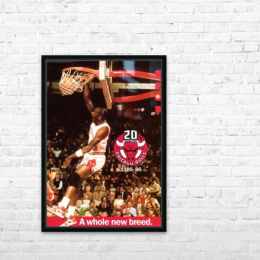 Michael Jordan Dunk HD Sublimation Metal print with Decorating Float Frame (BOX)