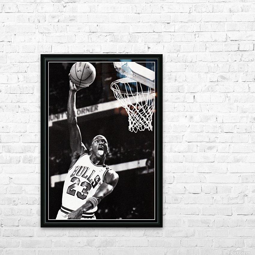 Michael Jordan Art Print HD Sublimation Metal print with Decorating Float Frame (BOX)