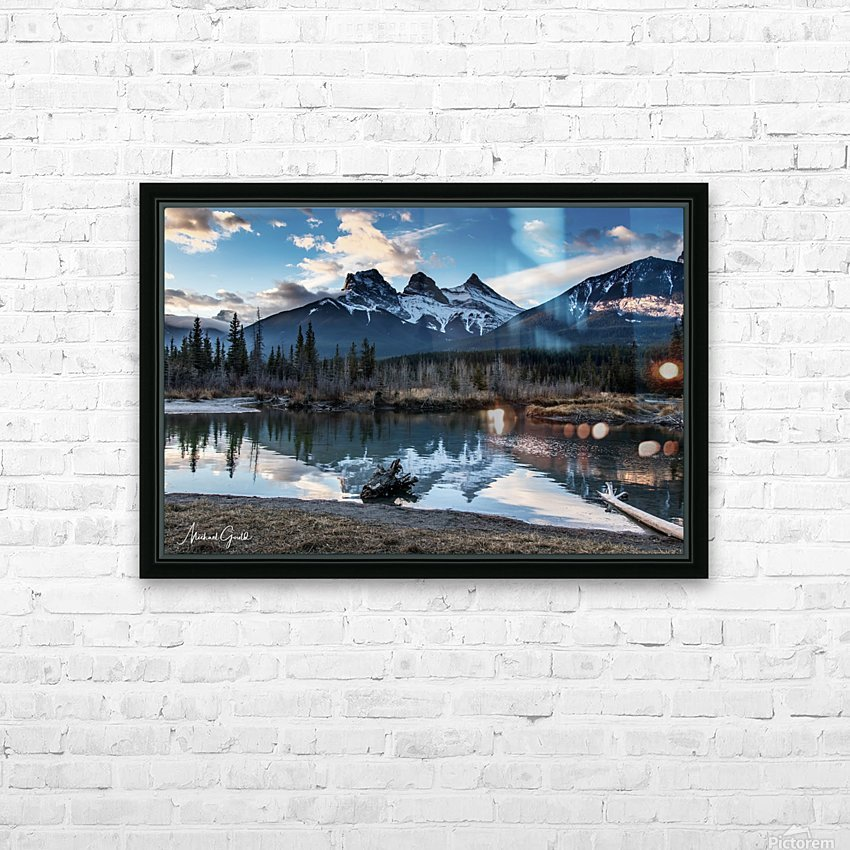 Three Sisters Canmore  HD Sublimation Metal print with Decorating Float Frame (BOX)