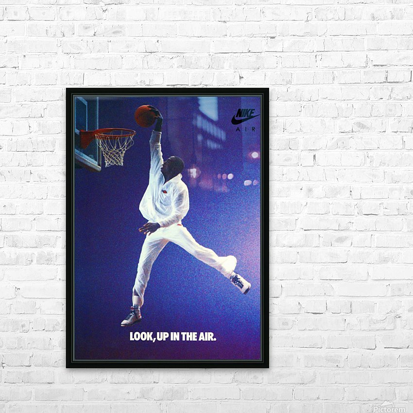 1987 Michael Jordan Nike Ad HD Sublimation Metal print with Decorating Float Frame (BOX)