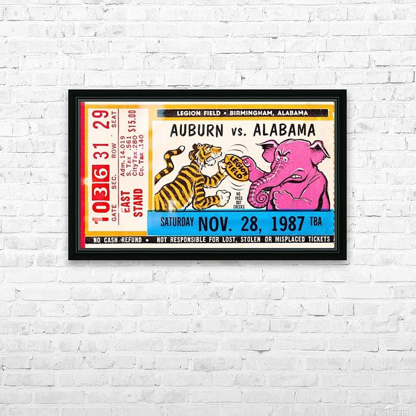 1987 Alabama vs. Auburn  HD Sublimation Metal print with Decorating Float Frame (BOX)