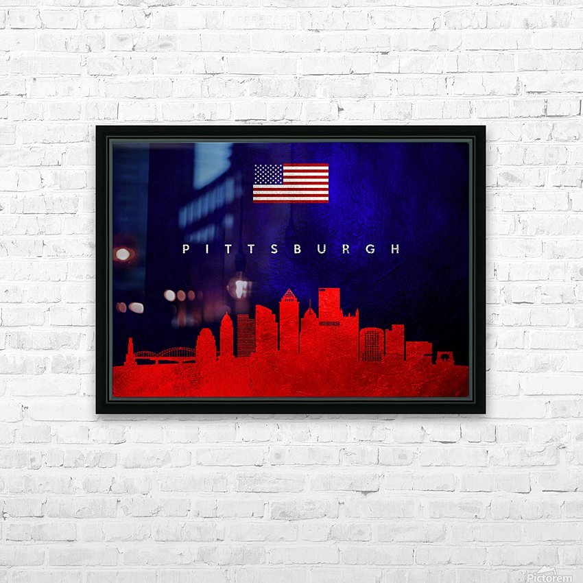 Pittsburgh Pennsylvania HD Sublimation Metal print with Decorating Float Frame (BOX)