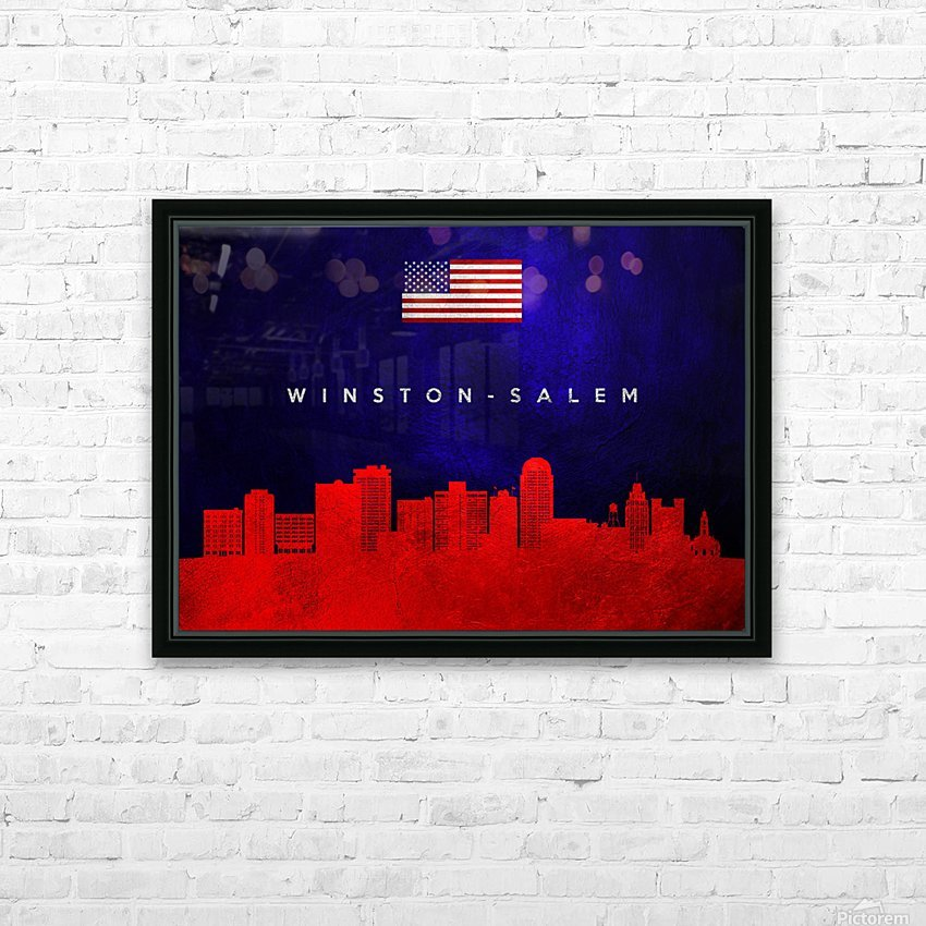 Winston Salem North Carolina HD Sublimation Metal print with Decorating Float Frame (BOX)