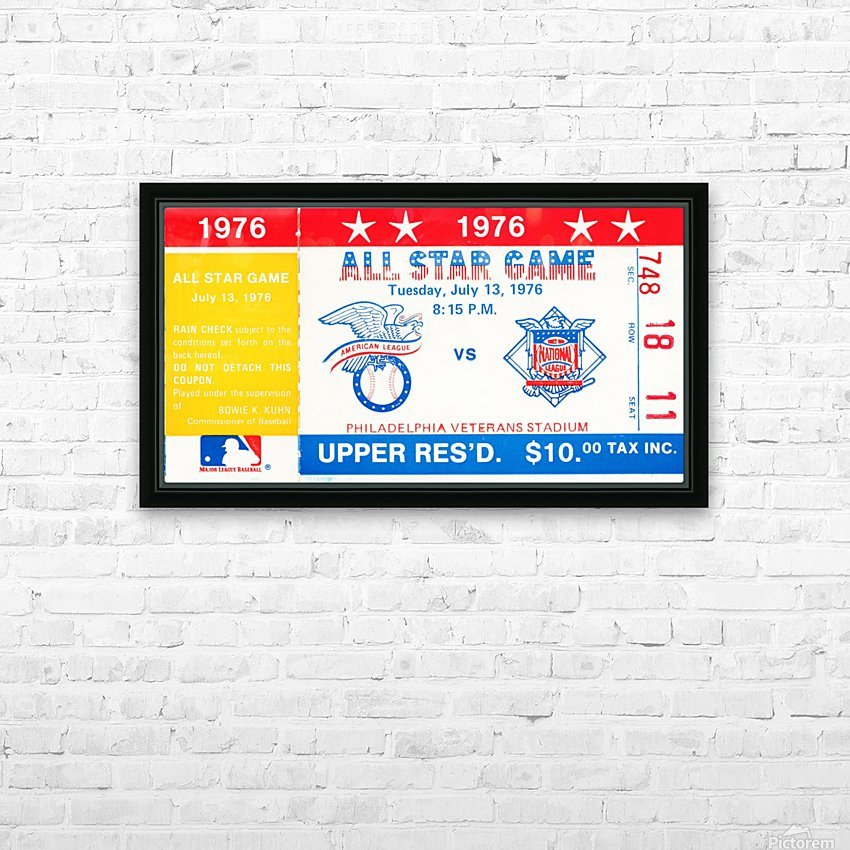1976 All Star Game HD Sublimation Metal print with Decorating Float Frame (BOX)