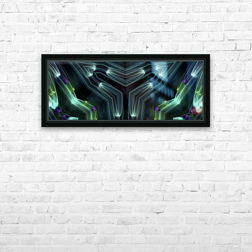 Neon Lights HD Sublimation Metal print with Decorating Float Frame (BOX)